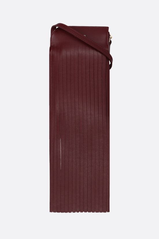 REE PROJECTS: Do fringed leather neck pouch Color Red_1