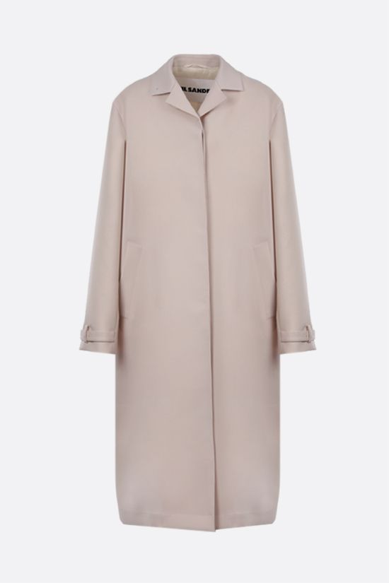 JIL SANDER: single-breasted wool gabardine coat Color Neutral_1