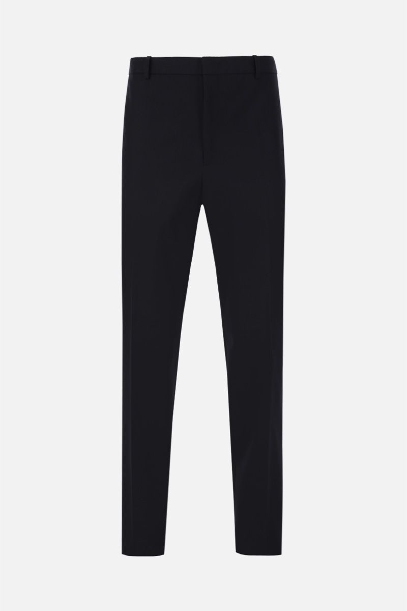 JIL SANDER: cotton casual pants Color Blue_1