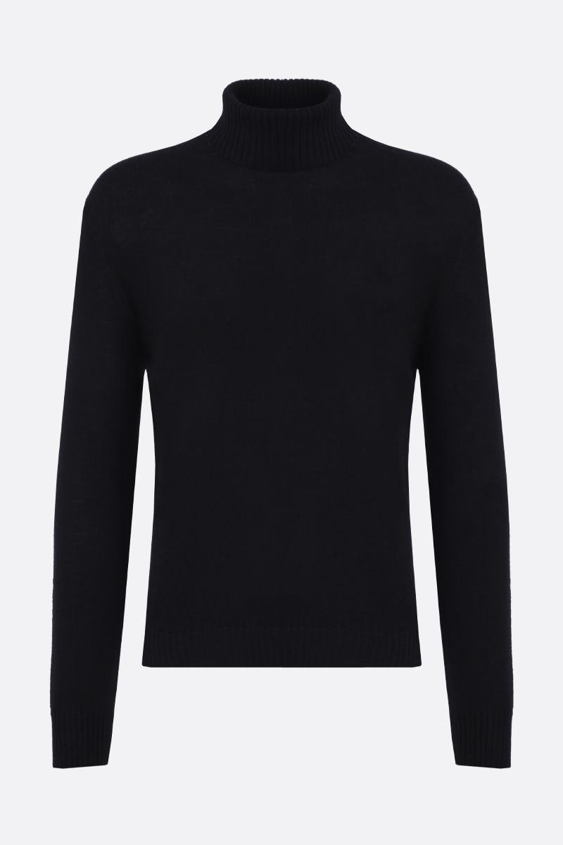 JIL SANDER: classic wool turtleneck Color Black_1