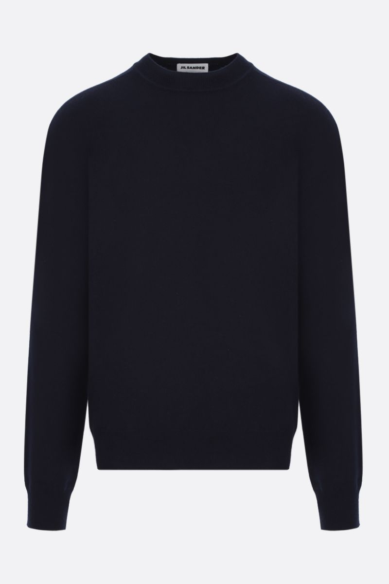 JIL SANDER: regular-fit cashmere pullover Color Blue_1