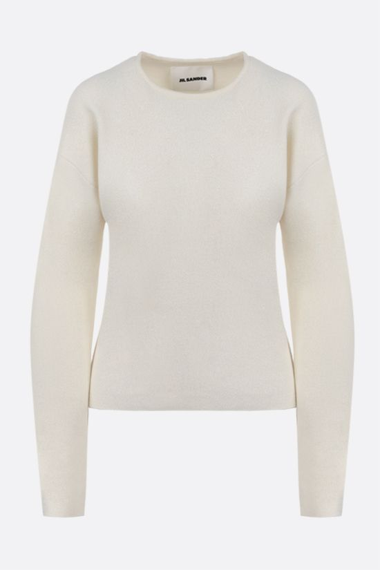 JIL SANDER: wool silk blend pullover Color White_1