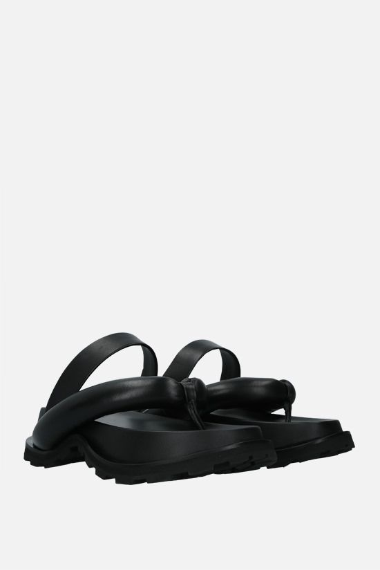 JIL SANDER: soft nappa thong sandals Color Black_2