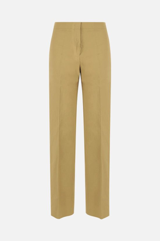 JIL SANDER: straight-leg linen pants Color Yellow_1