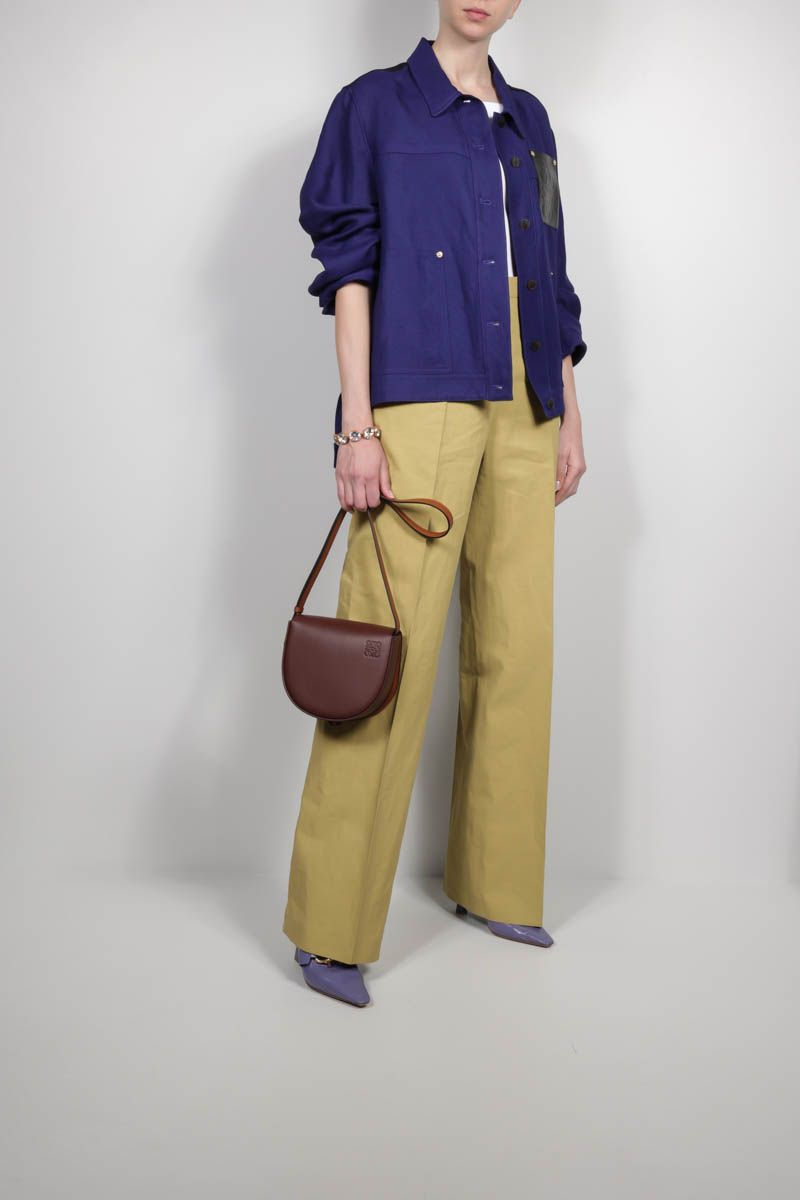 JIL SANDER: straight-leg linen pants Color Yellow_2
