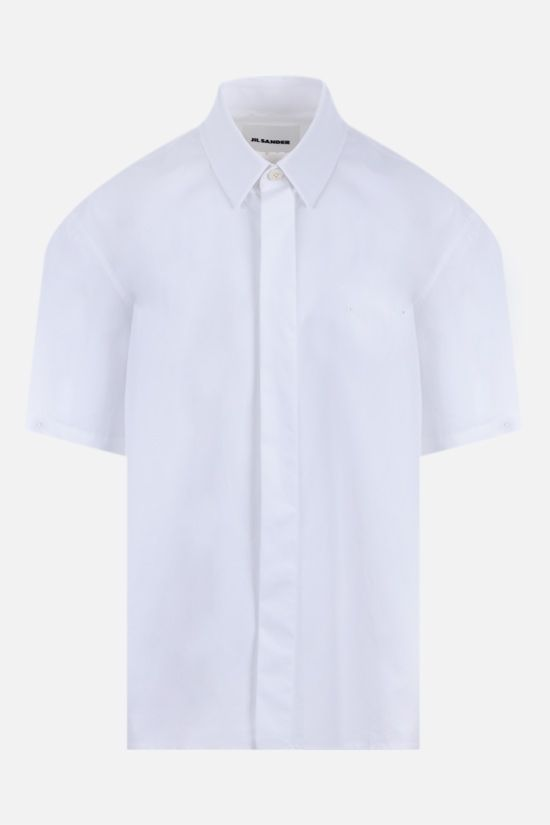 JIL SANDER: poplin short-sleeved shirt Color White_1