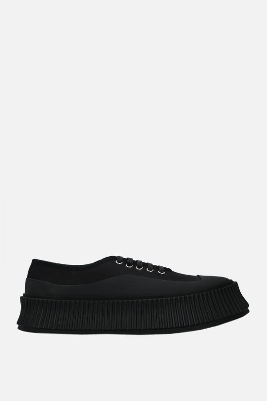 JIL SANDER: canvas and rubber low-top sneakers Color Black_1