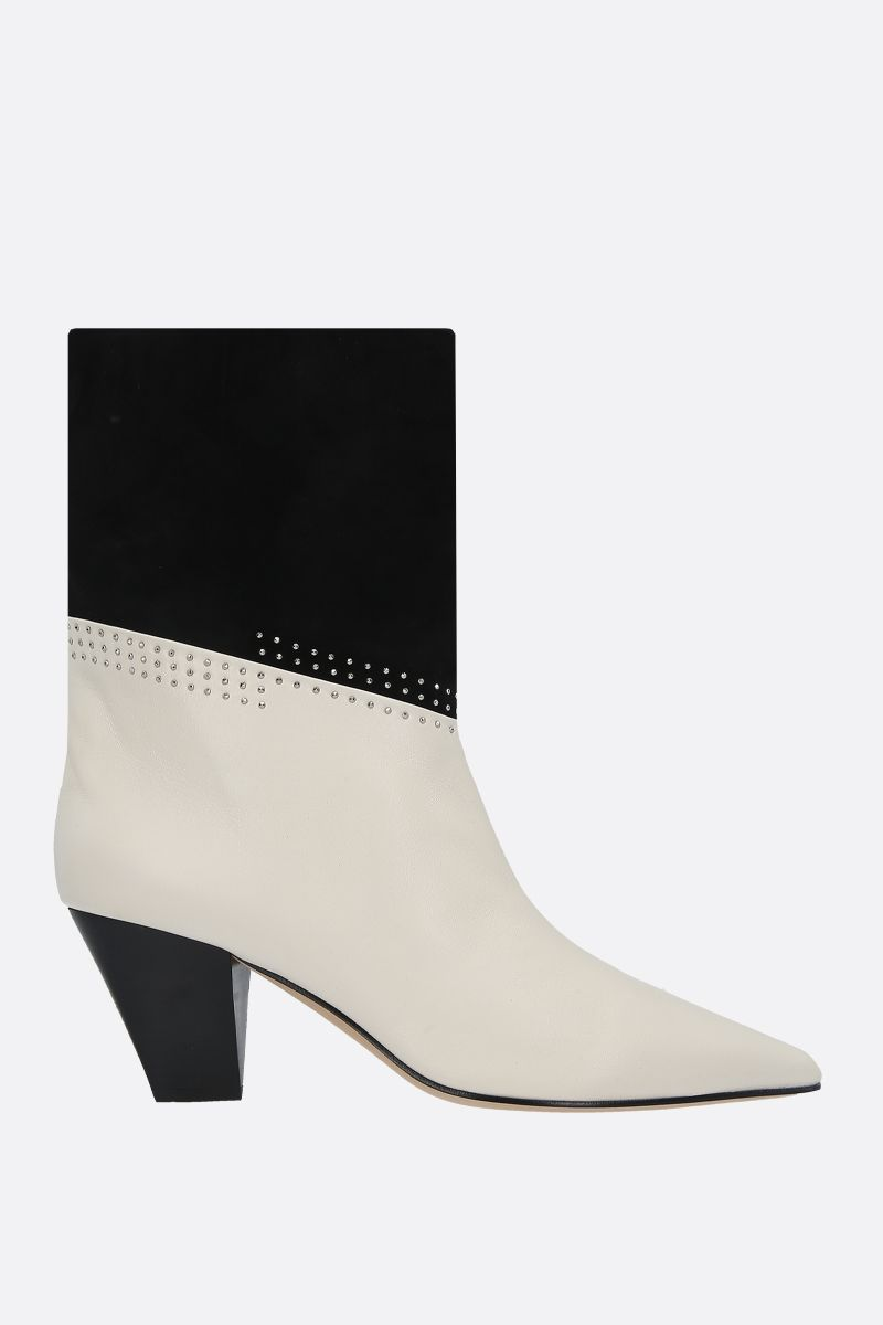 JIMMY CHOO: Bear soft nappa and suede ankle boots Color Grey_1