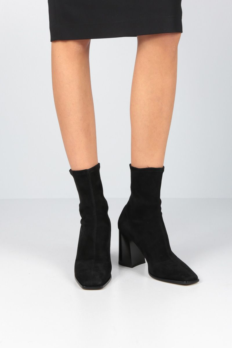 JIMMY CHOO: Bryelle ankle boots in stetch suede Color Black_2