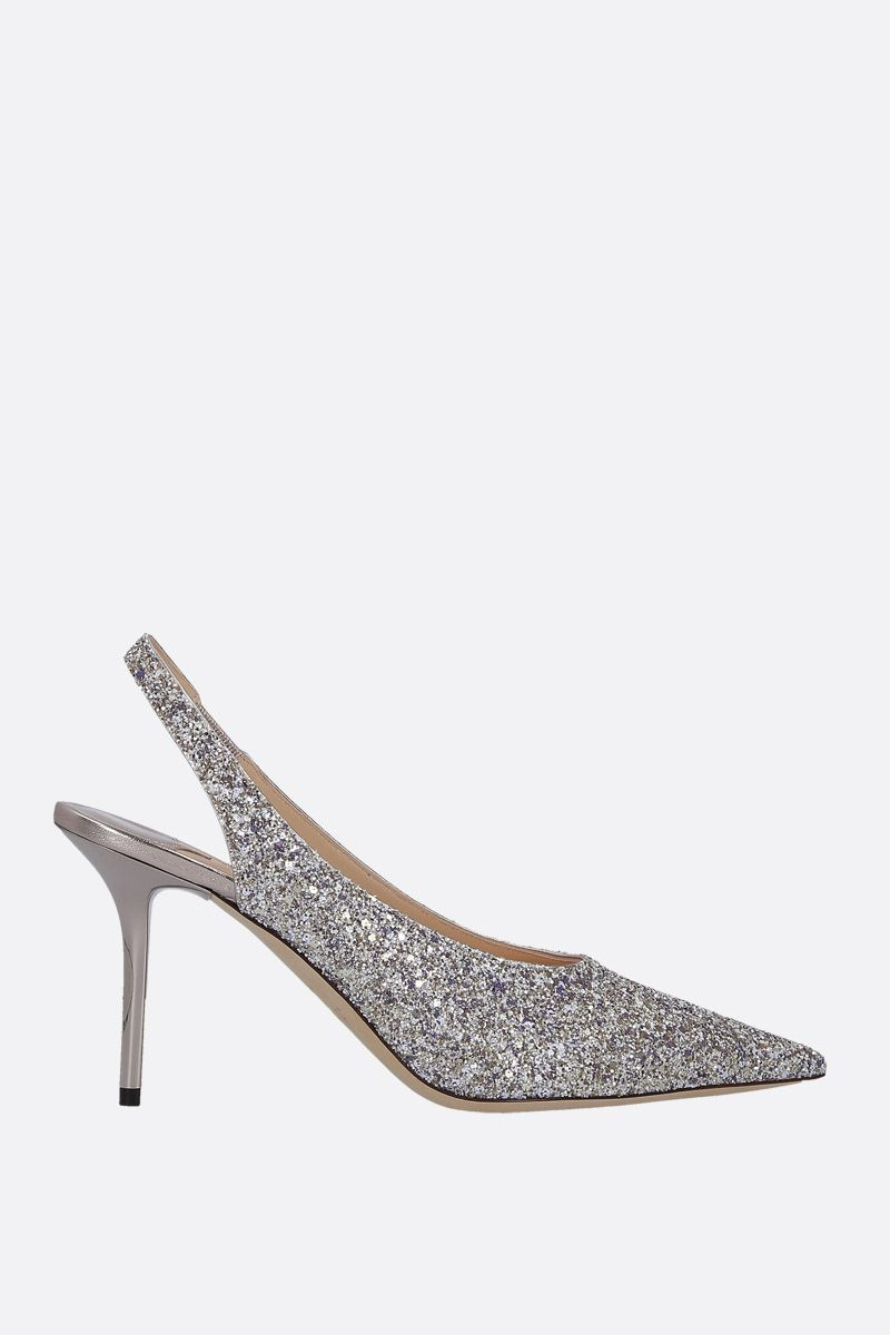 JIMMY CHOO: Ivy slingbacks in glitter fabric Color Multicolor_1