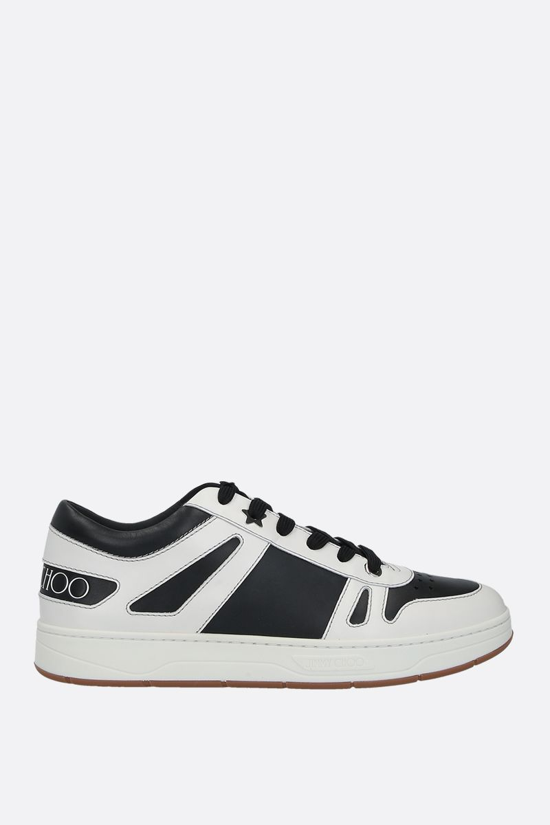 JIMMY CHOO: HAwaii/M bicolour smooth leather sneakers Color Black_1