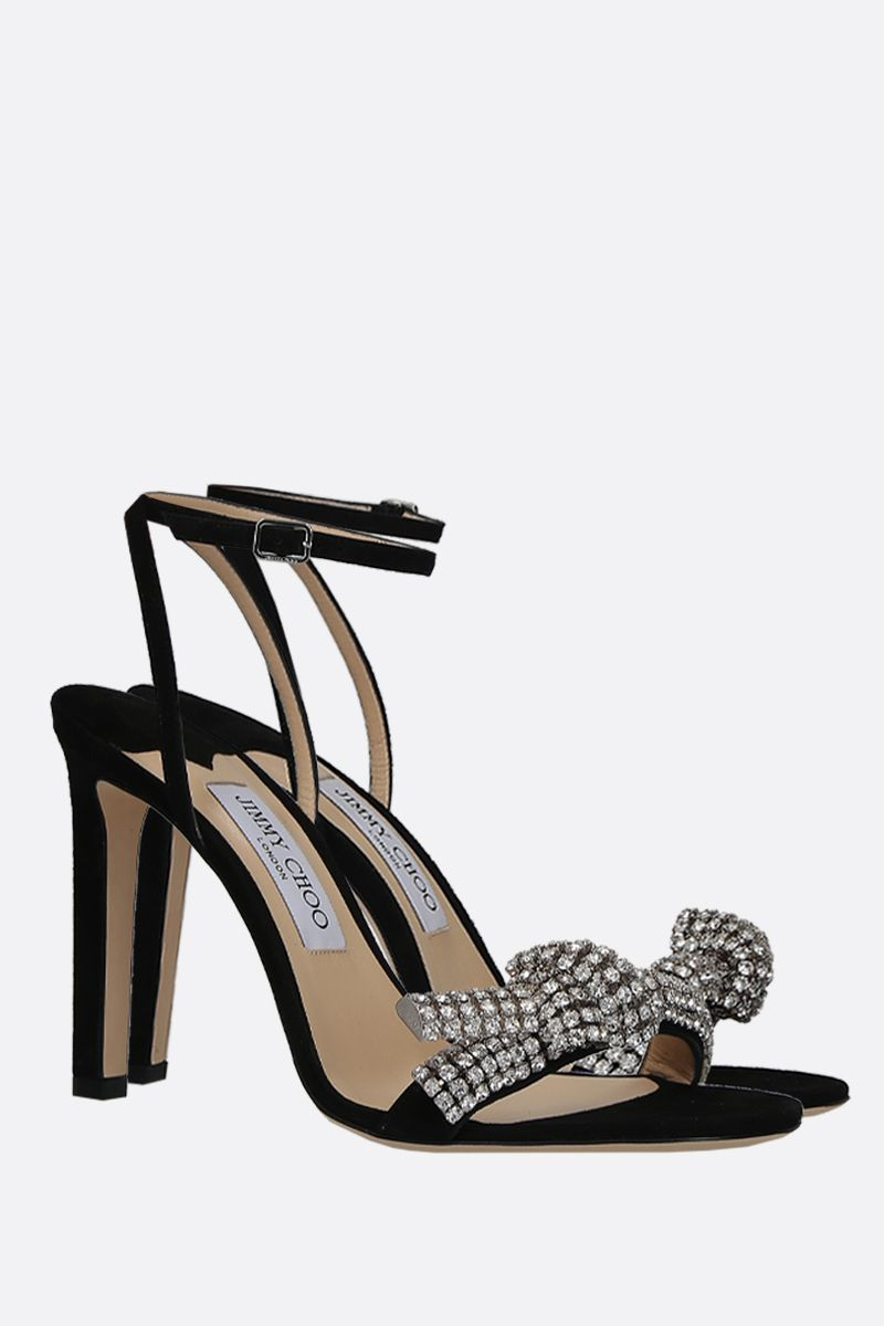 JIMMY CHOO: Thyara suede sandals Color Black_3
