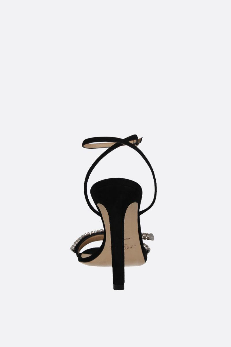 JIMMY CHOO: Thyara suede sandals Color Black_4