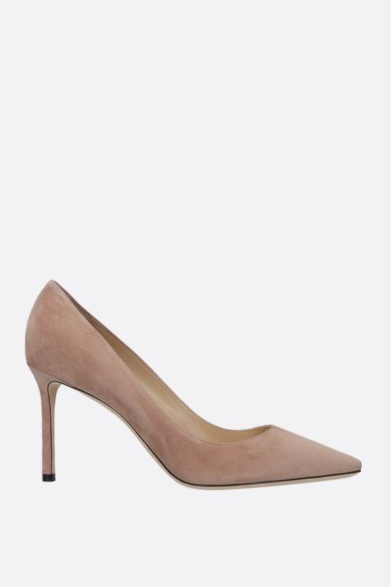 JIMMY CHOO: Romy suede pumps Color Neutral_1