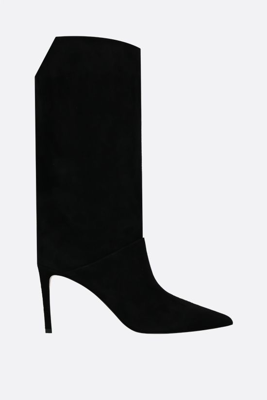 JIMMY CHOO: Beren suede boots Color Black_1
