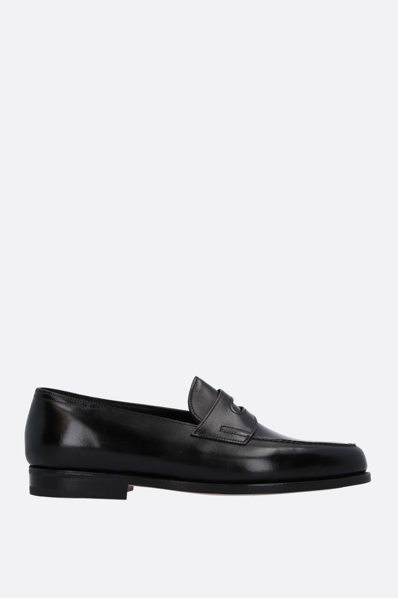 JOHN LOBB: Lopez loafers in Museum leather Color Black_1