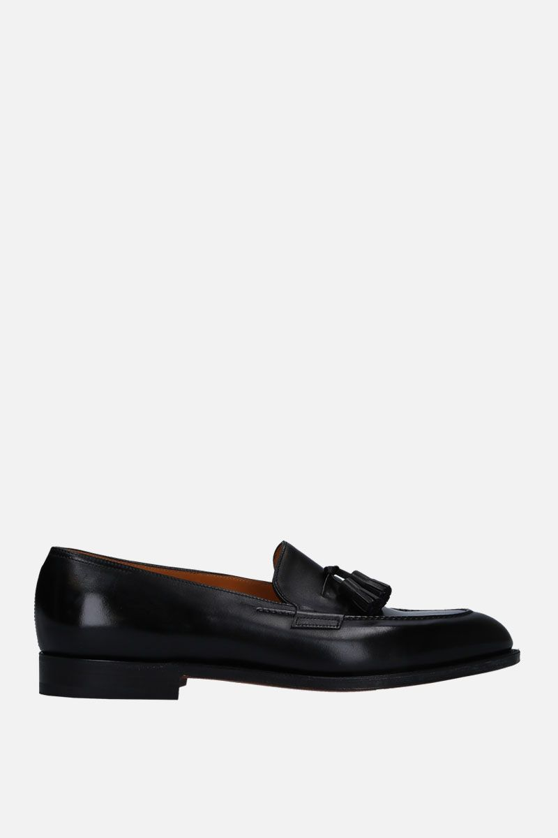 JOHN LOBB: Truro loafers in brushed calf Color Black_1