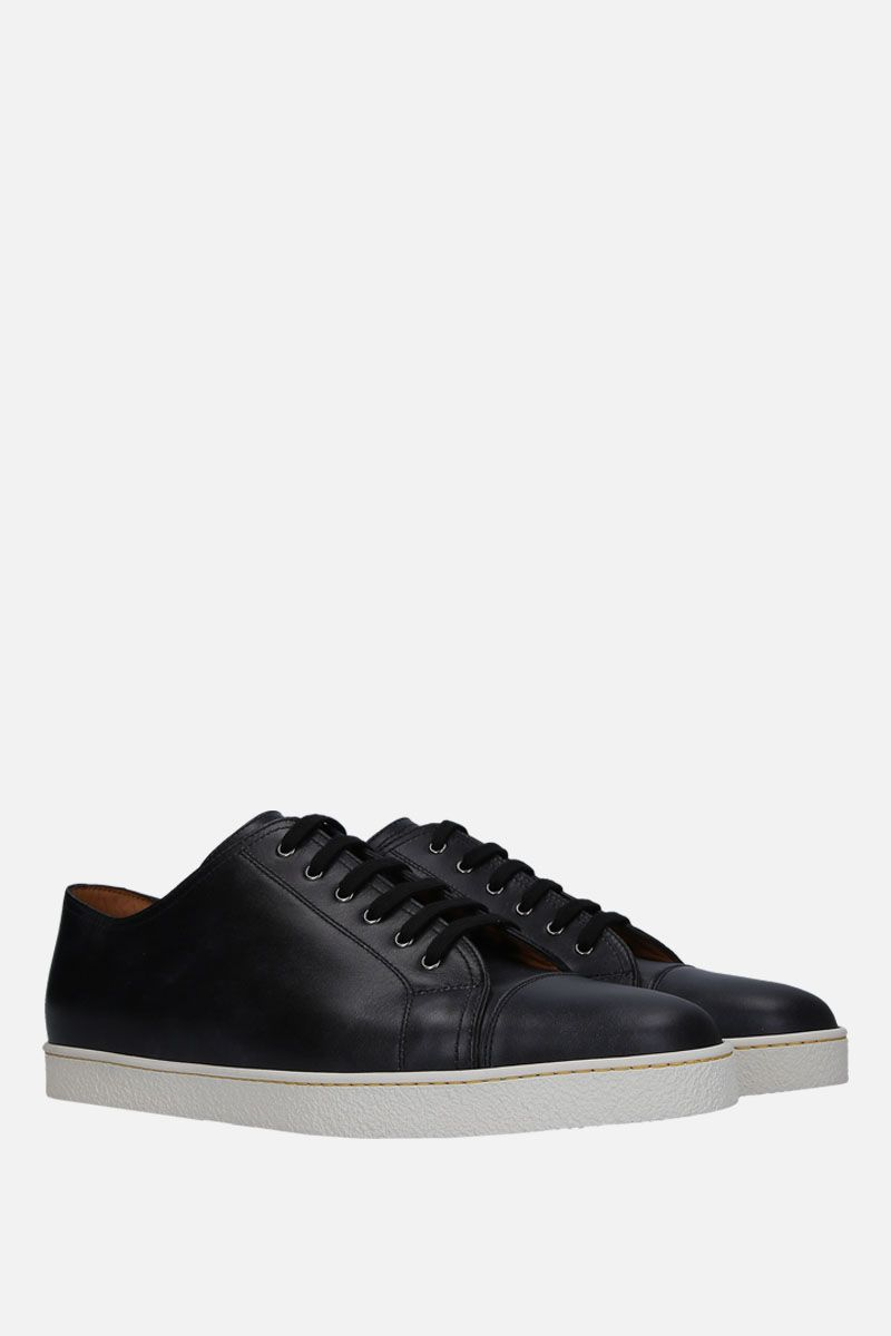 JOHN LOBB: Levah sneakers in Museum leather Color Black_2