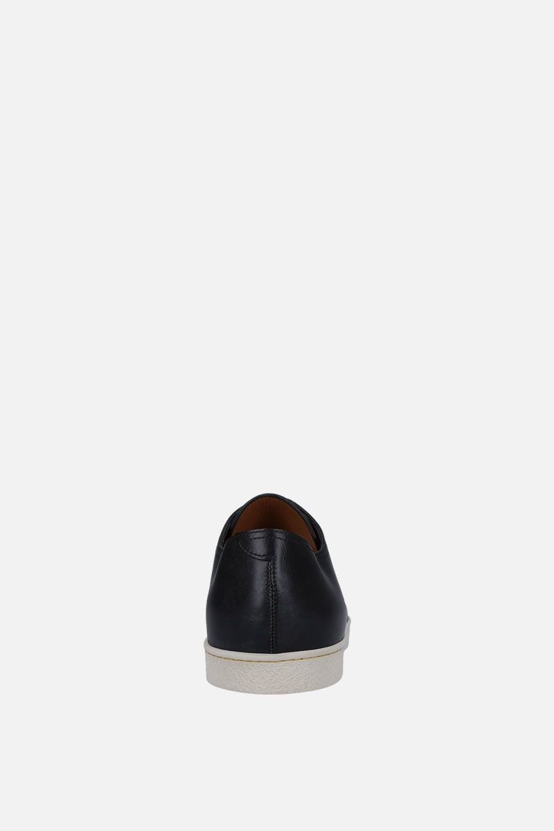 JOHN LOBB: Levah sneakers in Museum leather Color Black_3