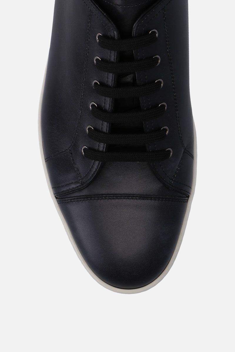 JOHN LOBB: Levah sneakers in Museum leather Color Black_4
