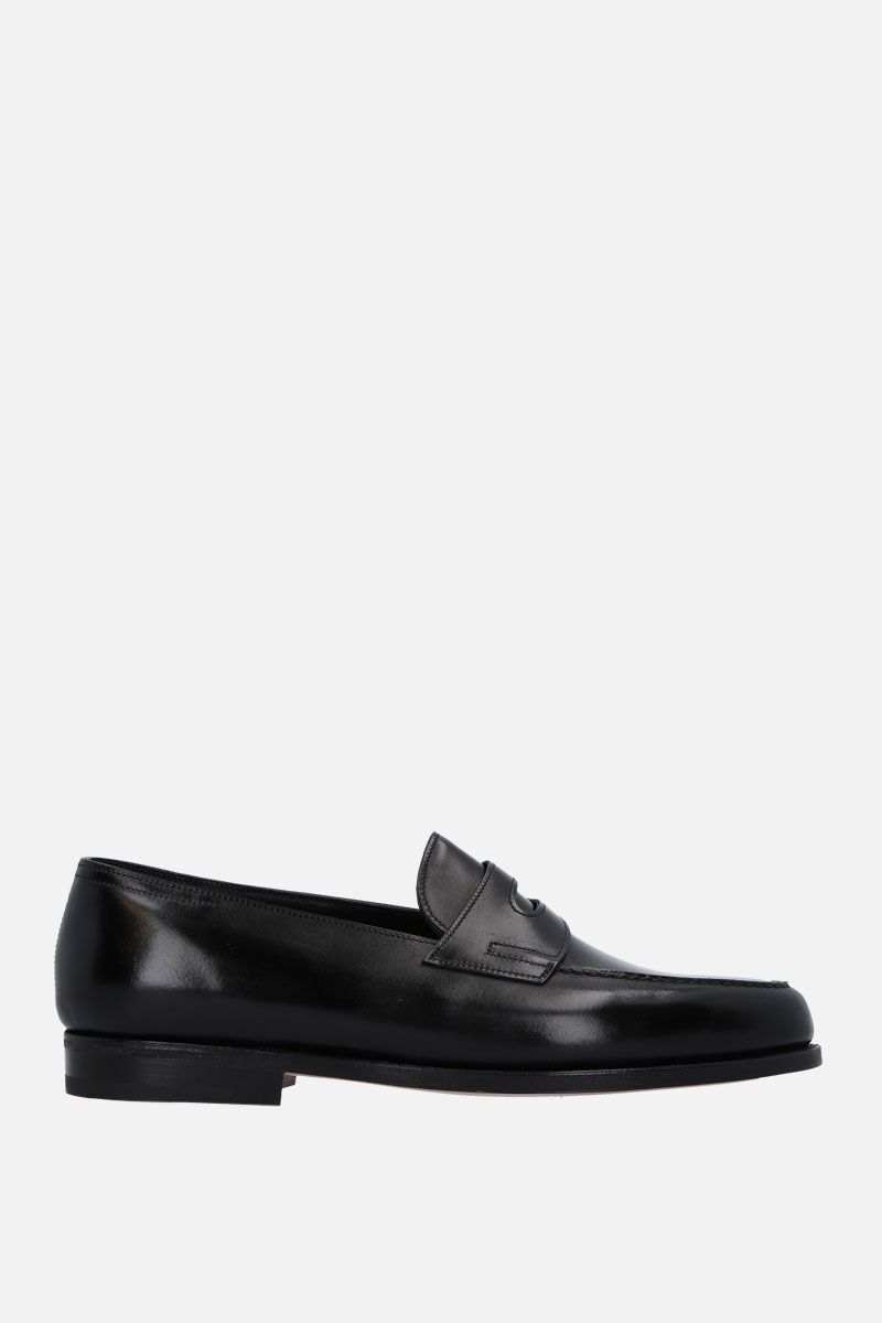 JOHN LOBB: Lopez loafers in Museum leather Color Black_5