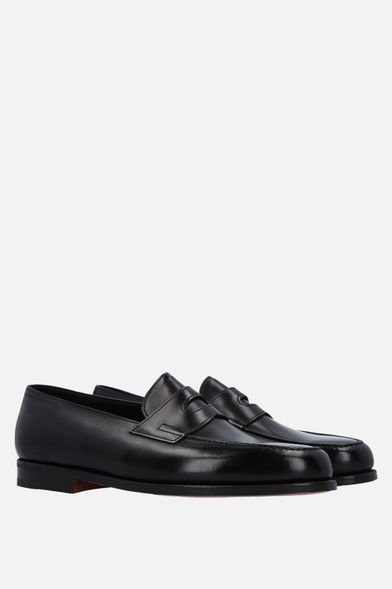 JOHN LOBB: Lopez loafers in Museum leather Color Black_6