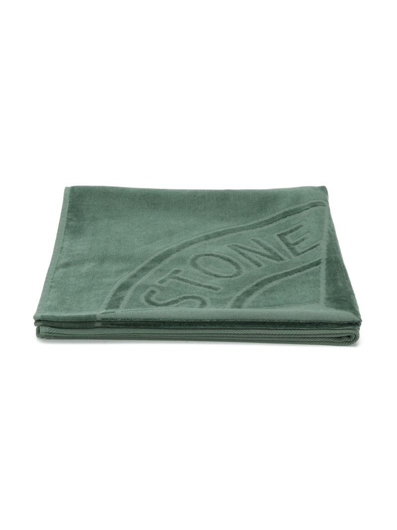 STONE ISLAND JUNIOR: logo-detailed cotton beach towel Color Pink_1