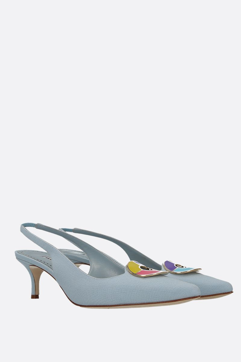 MANOLO BLAHNIK: slingback Malasli in canvas Colore Blu_2