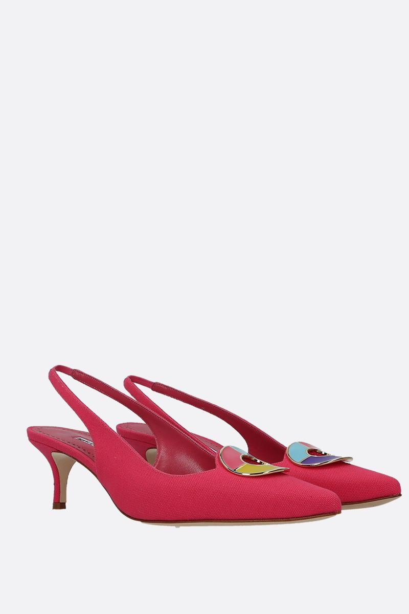 MANOLO BLAHNIK: slingback Malasli in canvas_2