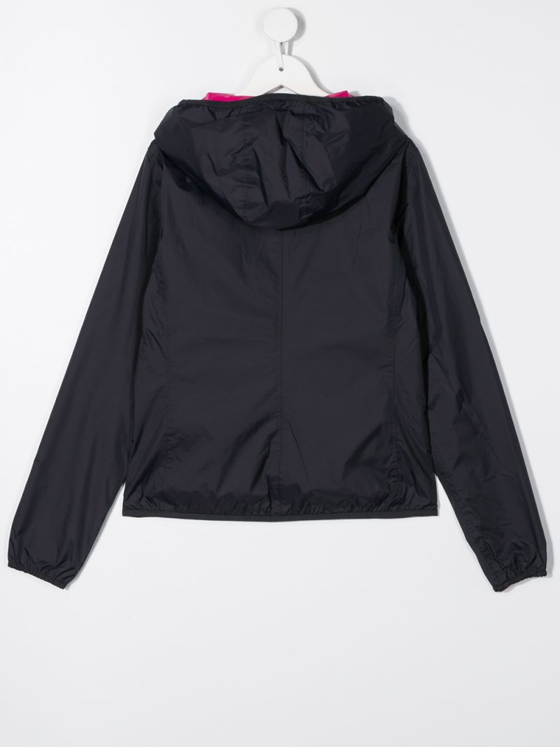 K-WAY KIDS: nylon reversible windbreaker Color Multicolor_2