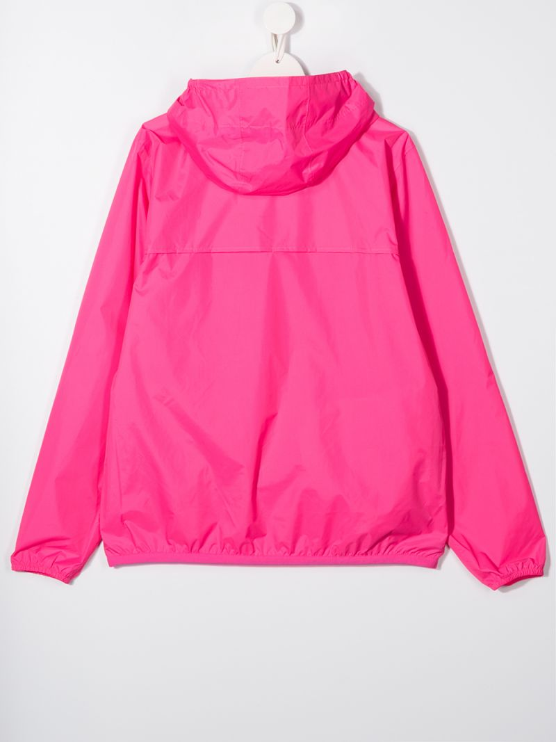 K-WAY KIDS: Le Vrai 3.0 Claude nylon windbreaker Color Pink_2