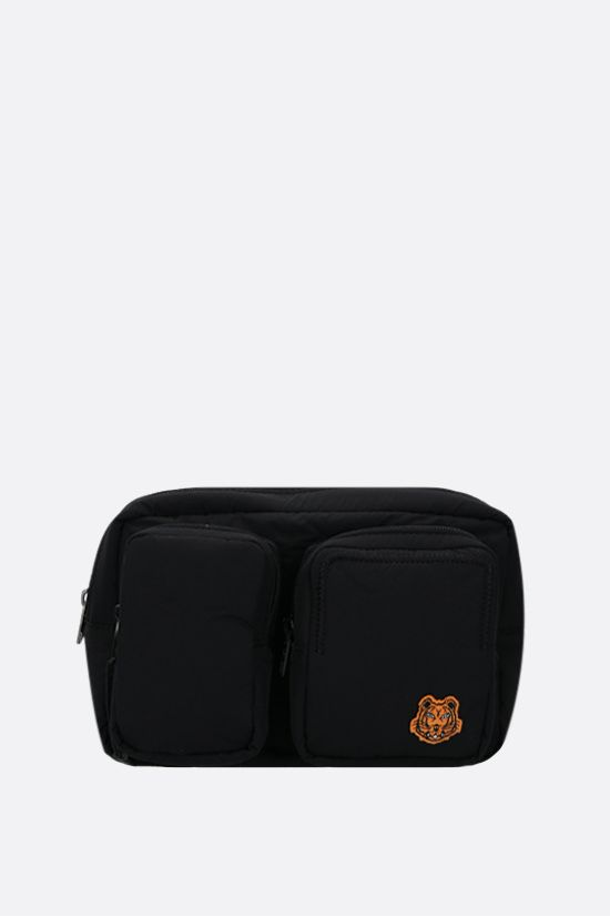 KENZO: Tiger Crest nylon belt bag Color Black_1