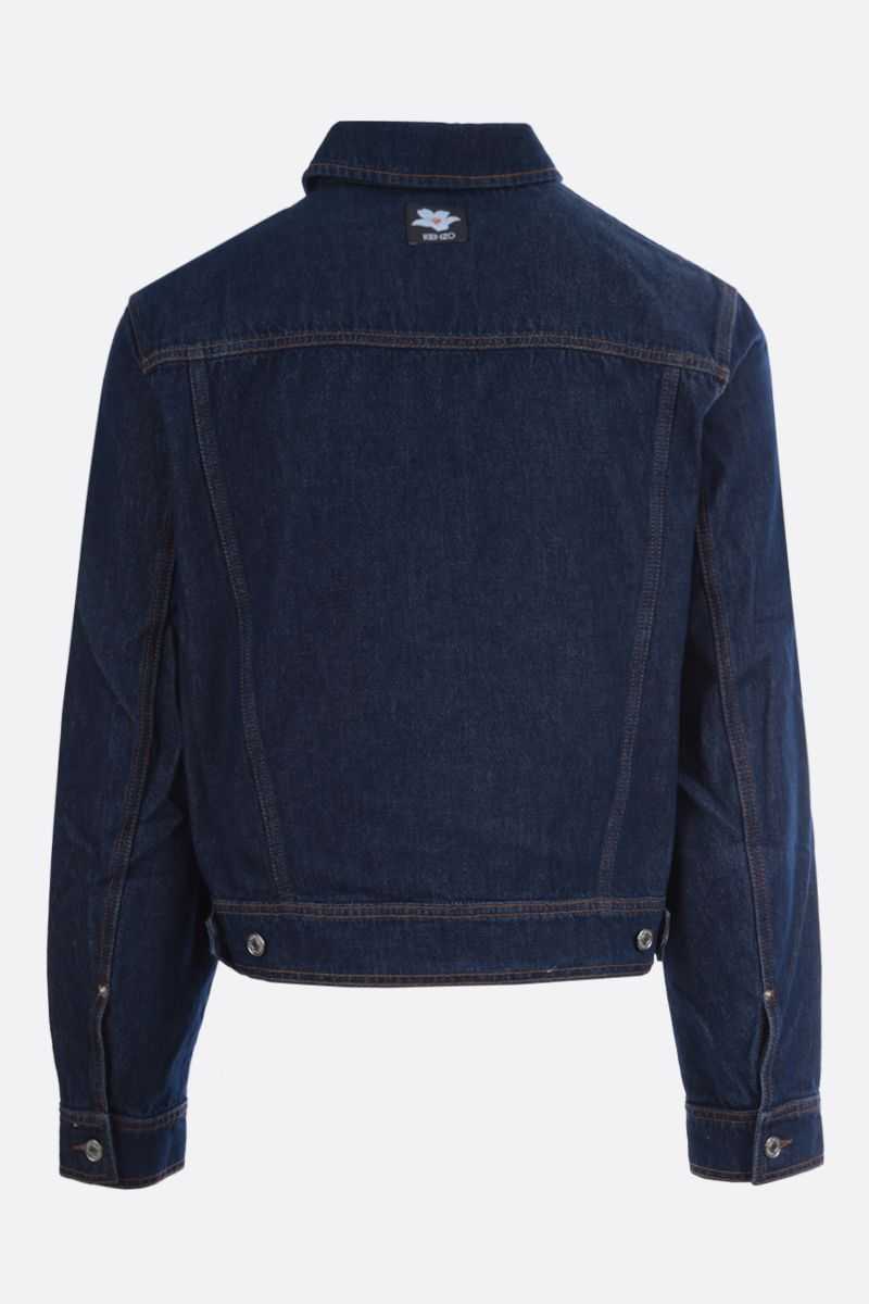 VANS X KENZO: Gardenia patch denim oversize jacket Color Blue_2