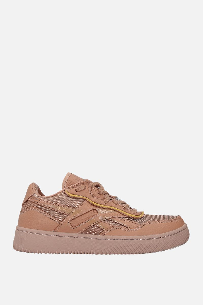 REEBOK X VICTORIA BECKHAM: Dual Court II VB leather and tech fabric sneakers Color Neutral_1