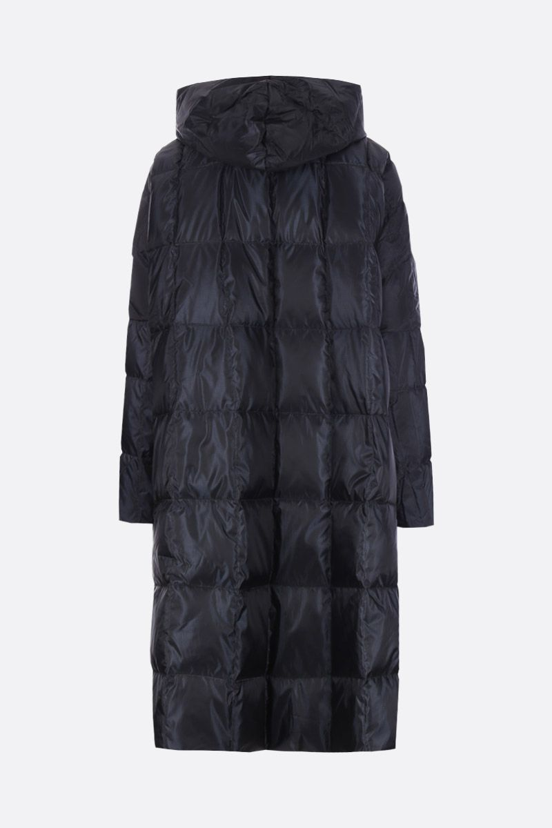IENKI IENKI: Pyramide long down jacket in nylon Color Black_2