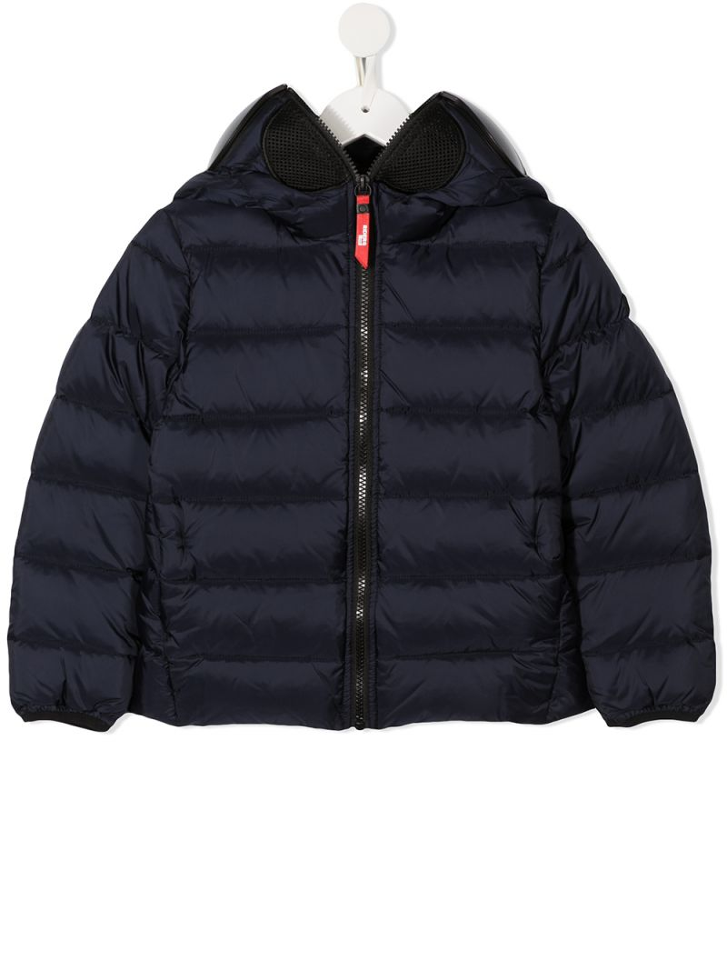 AI RIDERS ON THE STORM KIDS: PVC lenses-detailed nylon down jacket Color Blue_1