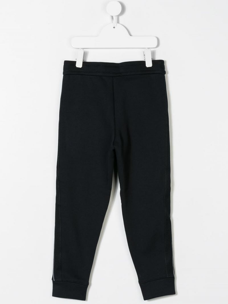 EMPORIO ARMANI KIDS: jersey joggers with contrasting bands Color Blue_2