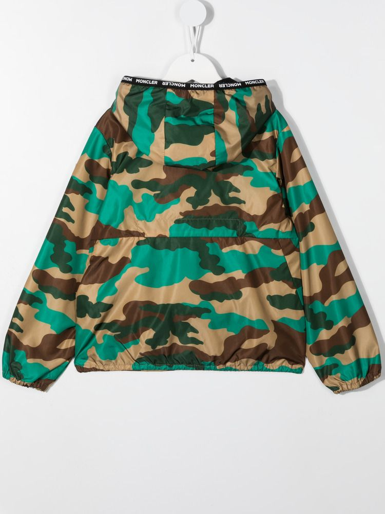 MONCLER KIDS: Nikandro camouflage print nylon windbreaker Color Multicolor_2