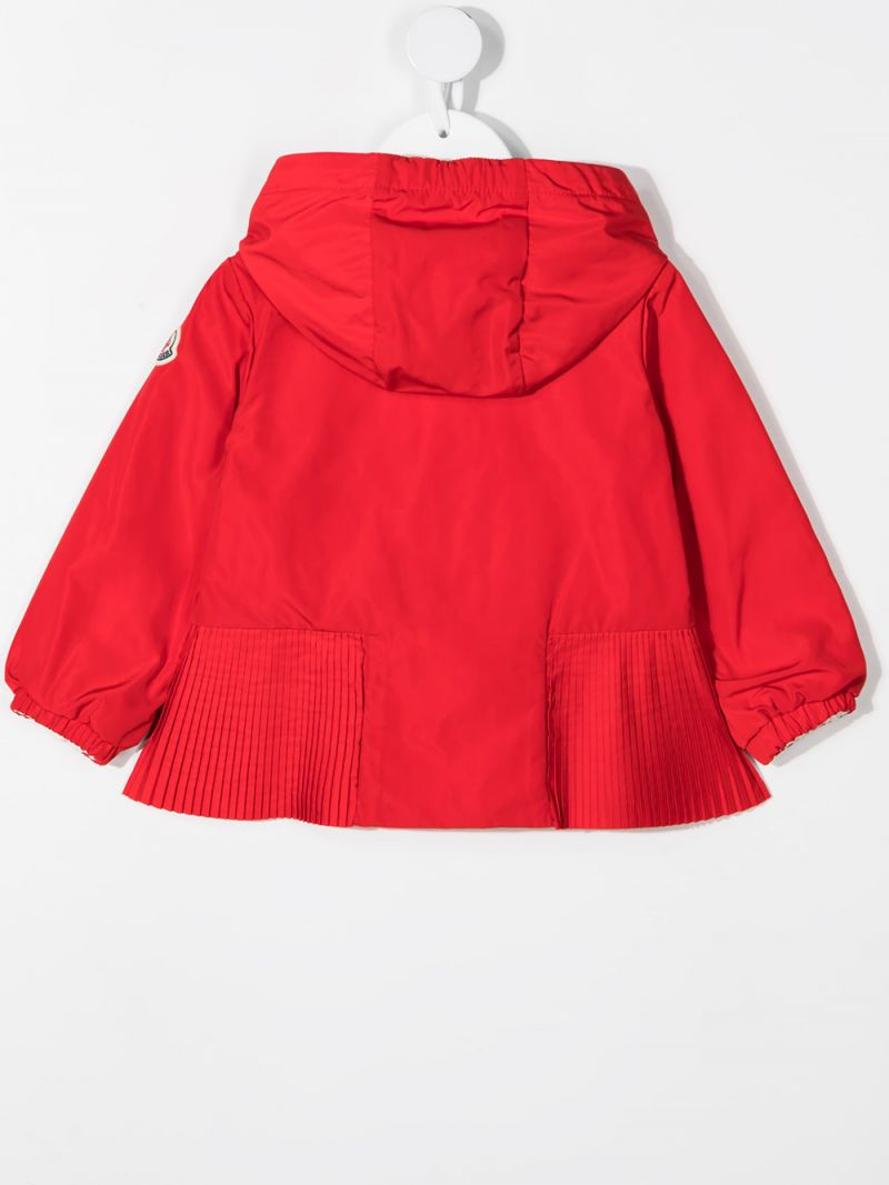 MONCLER KIDS: Eukodie nylon windbreaker Color Red_2