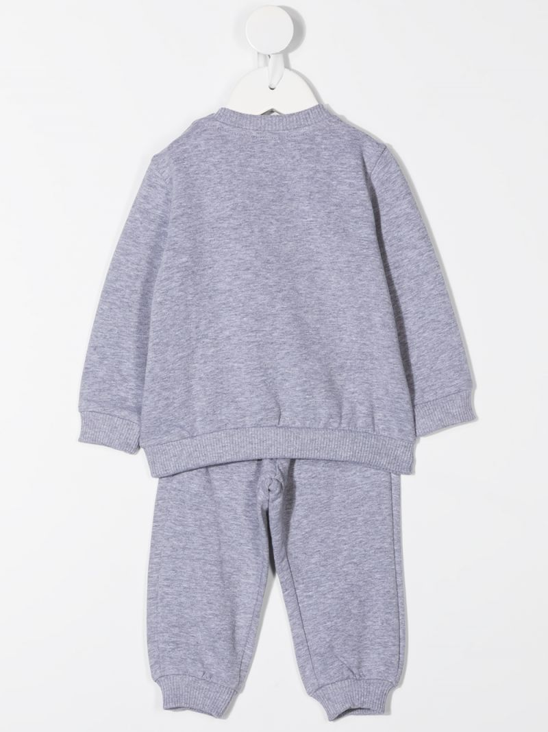 MOSCHINO KIDS: Mug Teddy Bear cotton blend tracksuit Color Grey_2