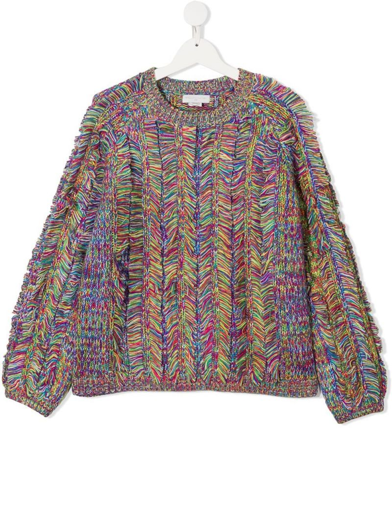 STELLA McCARTNEY KIDS: Space Dyed acrylic pullover Color Multicolor_1