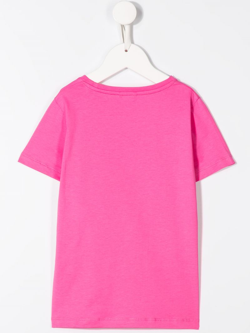STELLA McCARTNEY KIDS: t-shirt in cotone stampa Love Hands Colore Rosa_2
