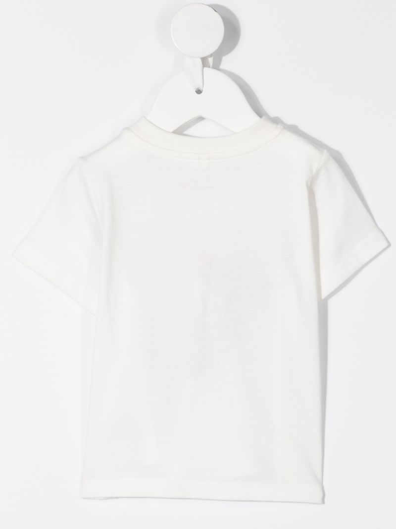 STELLA McCARTNEY KIDS: Rainbow Heart print cotton t-shirt Color White_2
