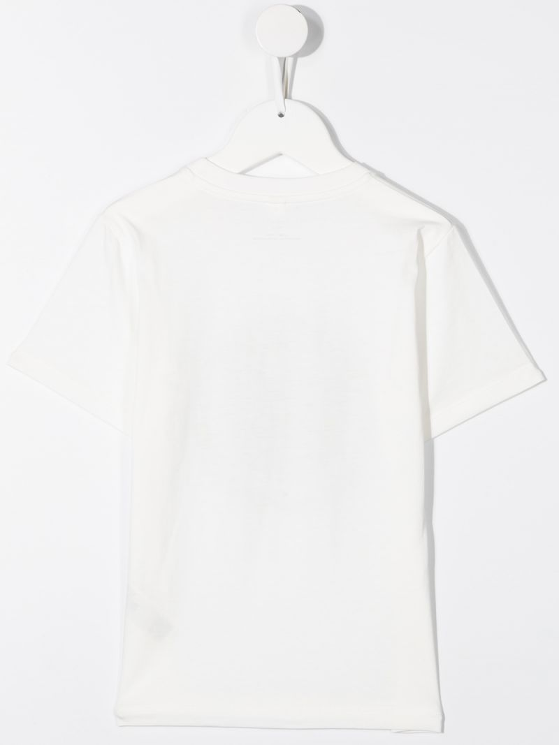 STELLA McCARTNEY KIDS: Smiling Earth print cotton t-shirt Color White_2