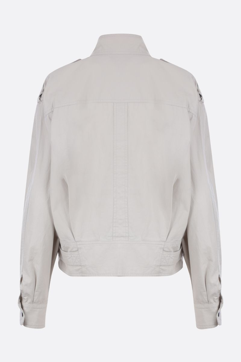ISABEL MARANT ETOILE: giacca boxy-fit Zonca in cotone Colore Neutro_2