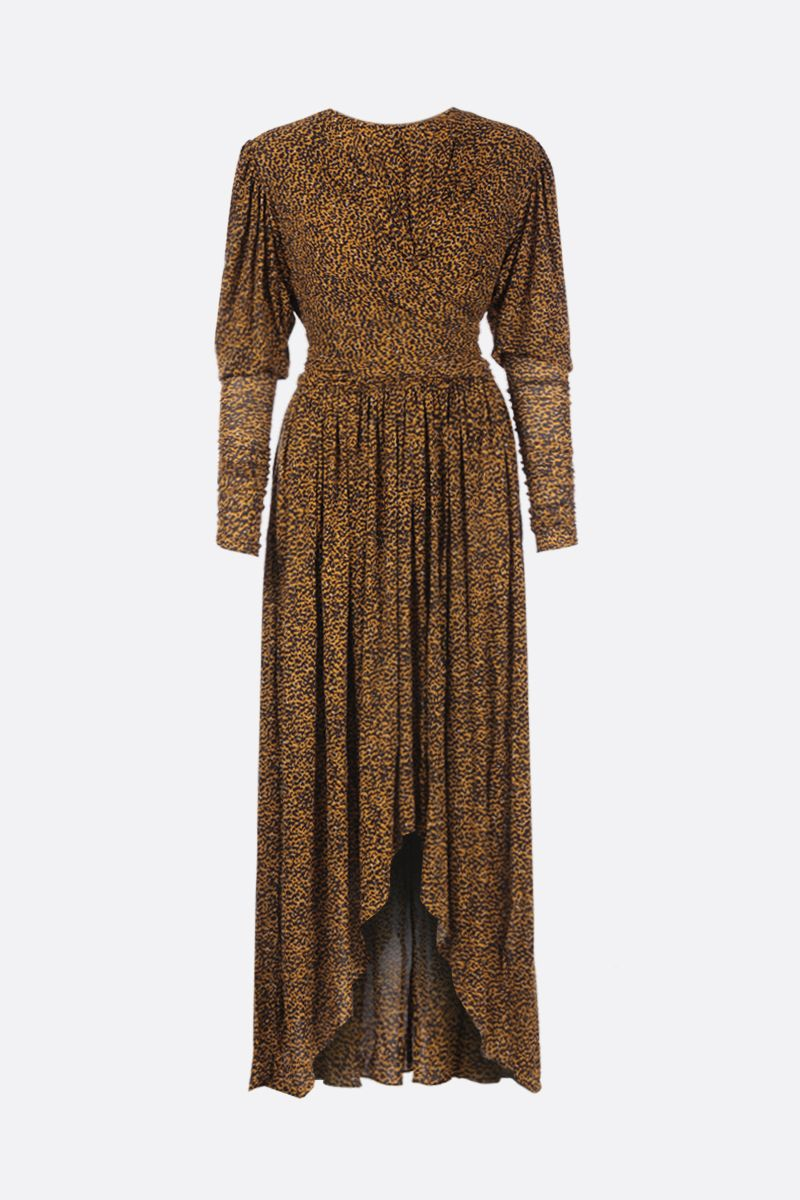 ISABEL MARANT: Jucienne gown in leopard print jersey_1