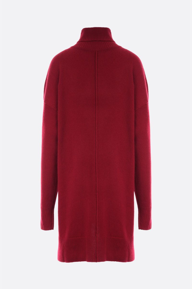 ISABEL MARANT: Anya cashmere blend midi dress Color Red_2