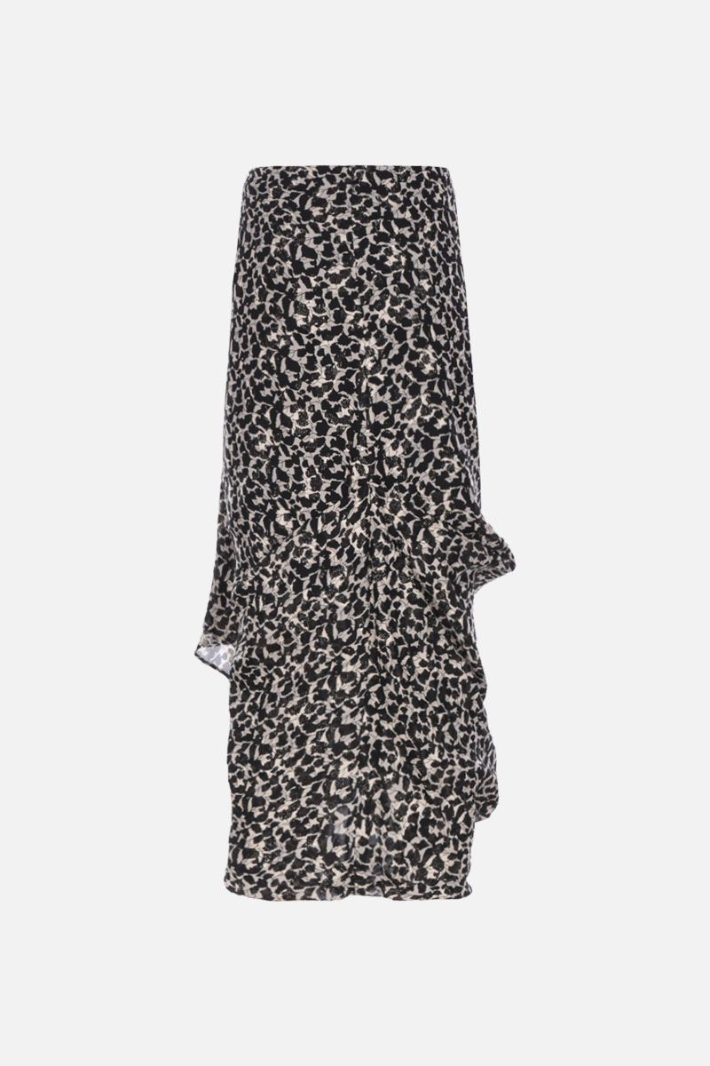 ISABEL MARANT: Candelia georgette midi skirt Color Multicolor_2