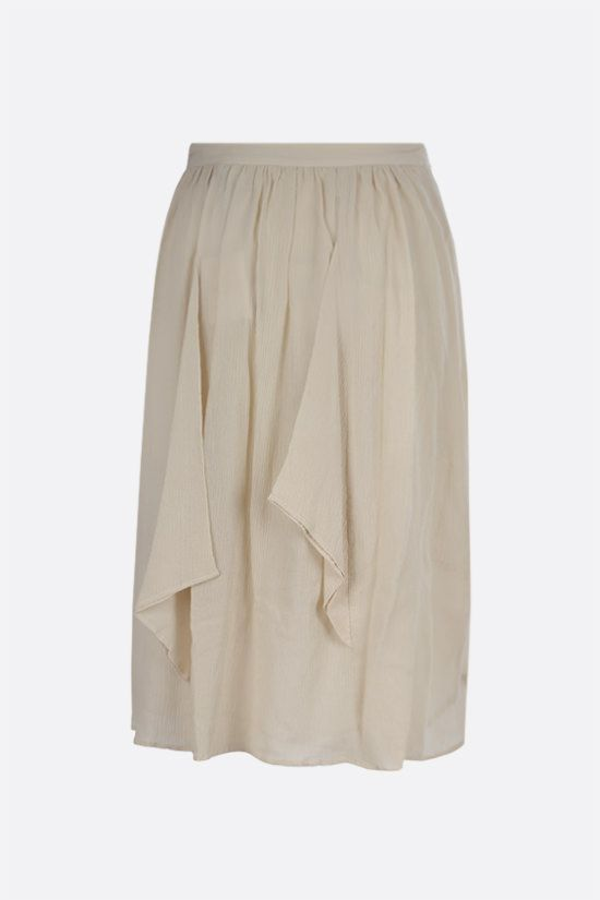 ISABEL MARANT: Darnae cotton silk blend midi skirt Color Neutral_2
