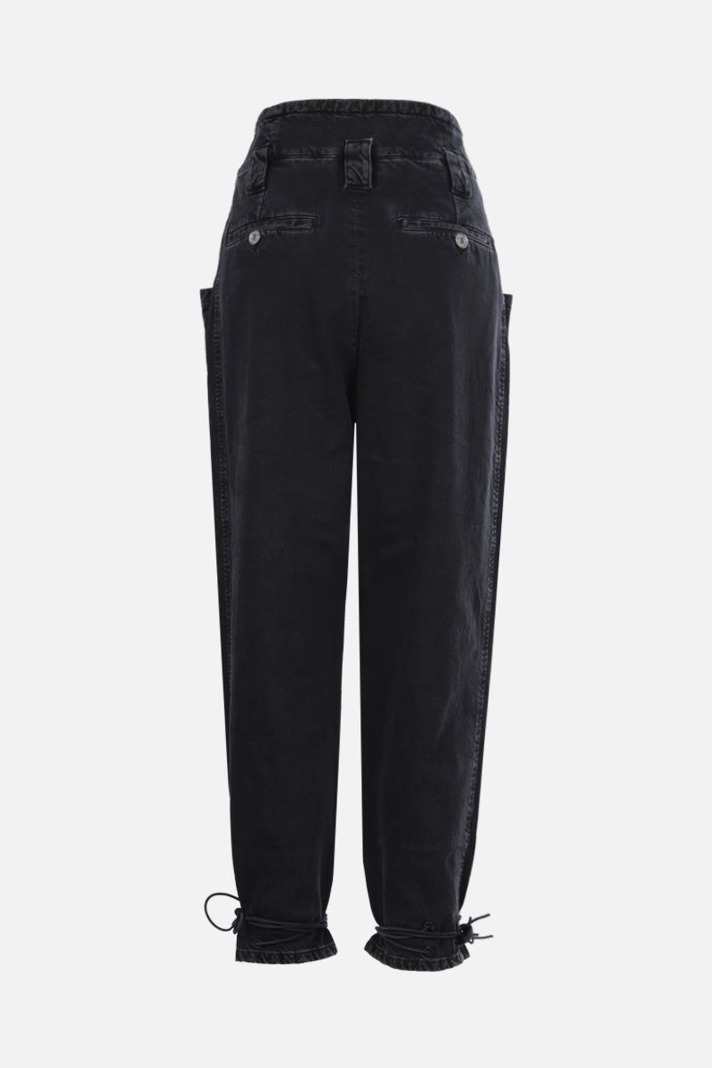 ISABEL MARANT: Nubaia cropped jeans Color Black_2